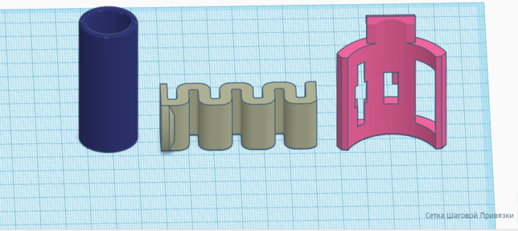 3D модель держателя штанги металлоискателя