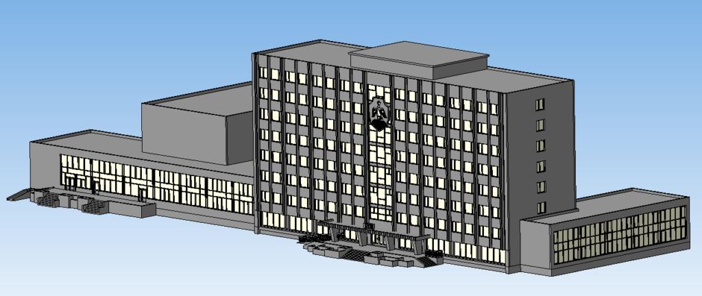 3D макет здания администрации города Орска