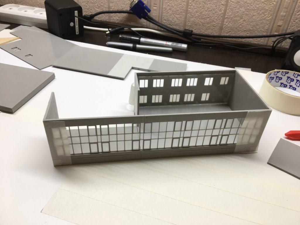 3D печать макета администрации города Орска