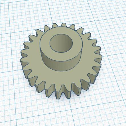 3D печать шестерни вала счетчика купюр