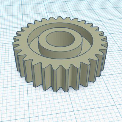 3D печать шестерни МФУ