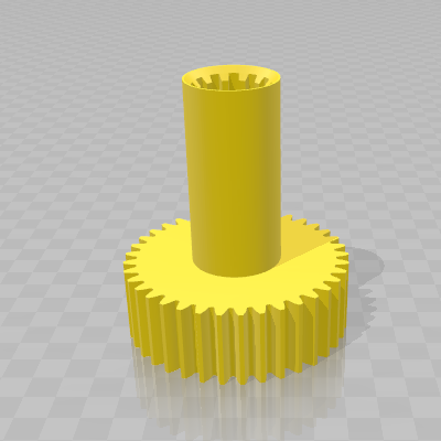 3D модель шестерни мясорубки BOSH 67440