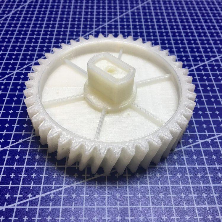 3D печать шестерни редуктора мясорубки Philips
