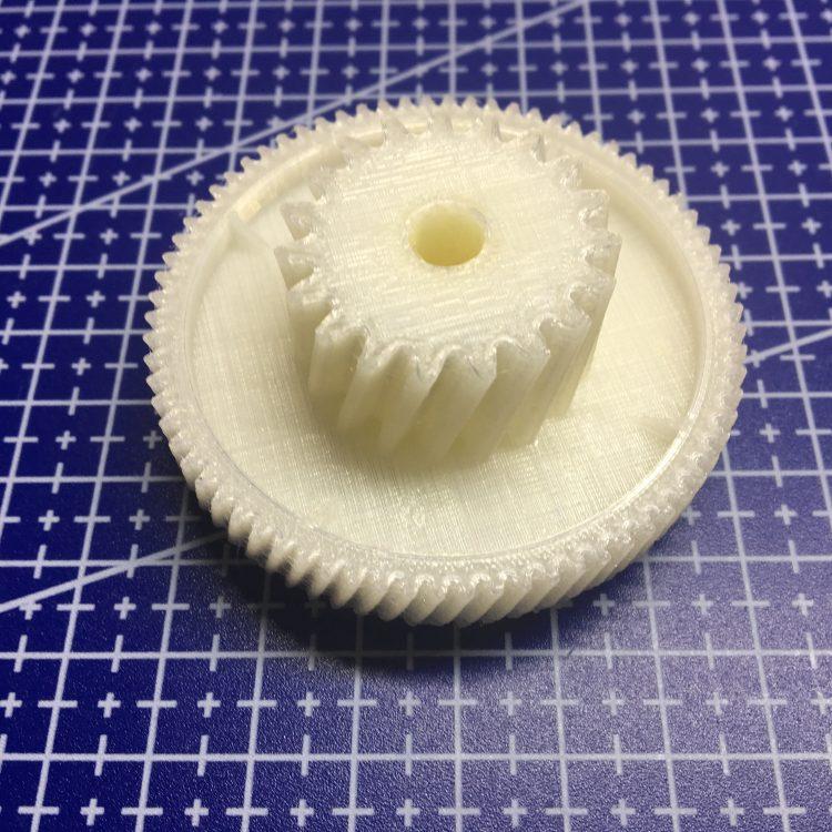 3D печать шестерни редуктора мясорубки Zelmer