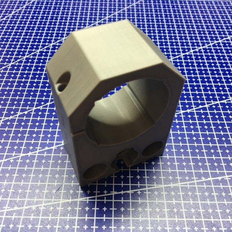 3D печать держателя мотора фрезера CNC2418