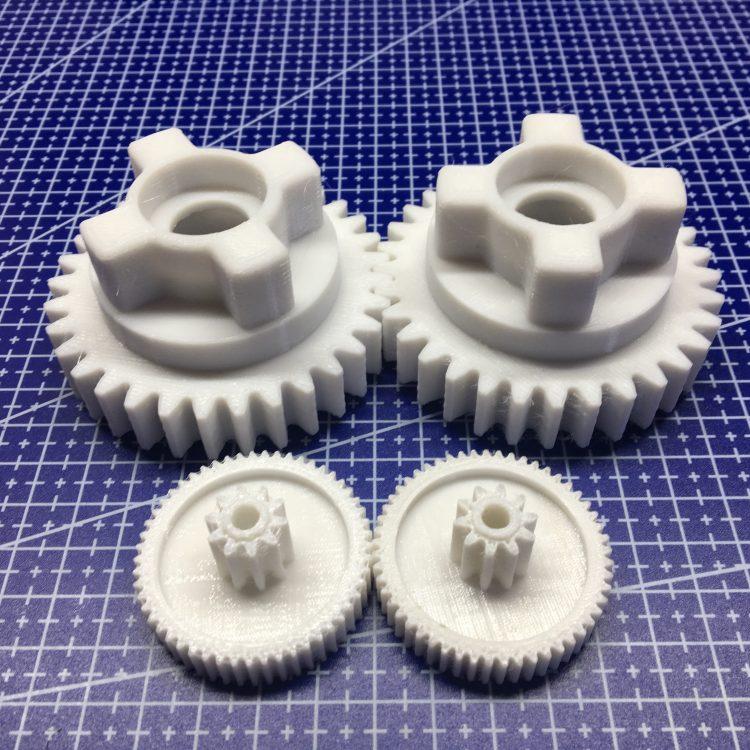 3D печать шестерней редуктора электромобиля Peg Perego Polaris Slingshot