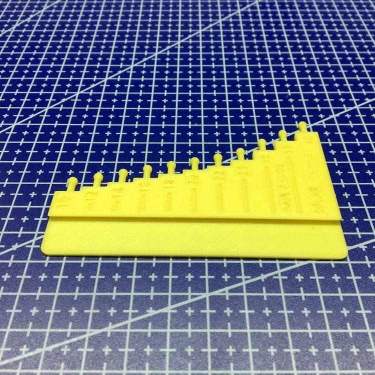 3D печать инструмента измерения волоса Hair Gauge