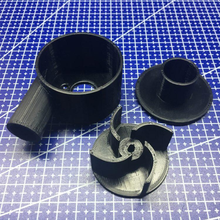 3D печать корпуса водяного насоса