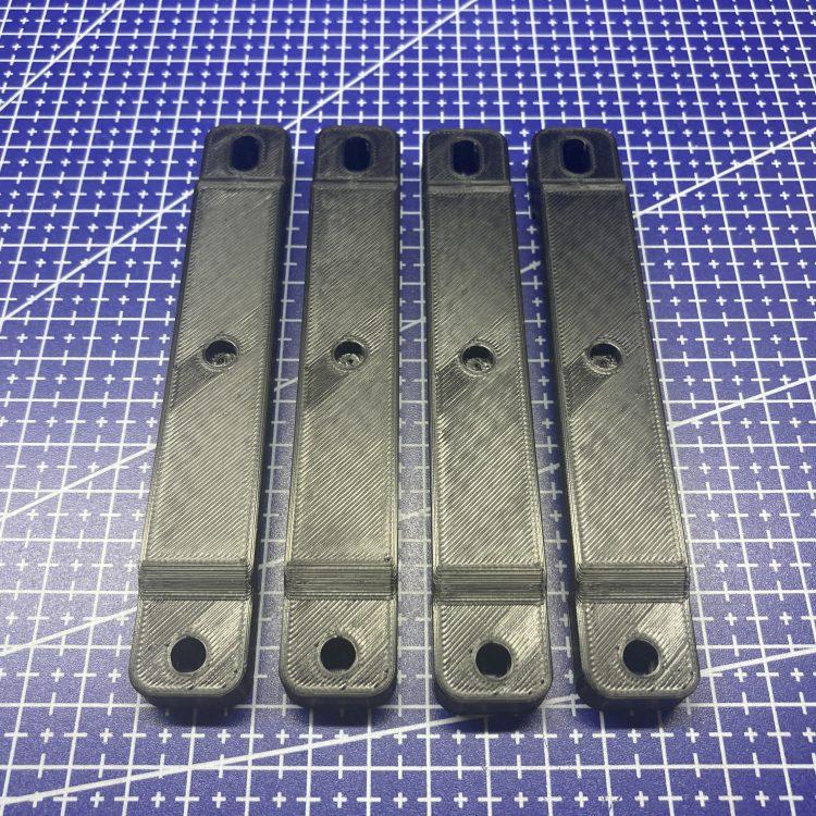 3D печать креплений номерного знака Cherry Tiggo